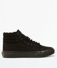 a9559b5204 (eBay link) New Vans Sk8-Hi Slim Black Shoes Men s Sz 6 Women s
