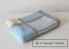 Do knit Yourself! Colorful baby blanket Noah pattern for those who would like to knit a baby blanket by themselves ! Made by you and with