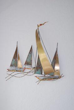 Sailboat Wall Art metal sailboat wall decor |  metal art sailboats wall sculpture