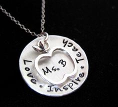 Christmas gift for teahcers/Favorite Teacher  Hand Stamped Jewelry with by byHannahDesign, $38.00