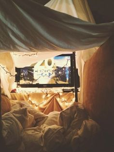 Pillow fort for movies!