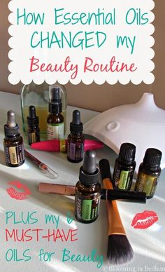 Essential oils beauty regimen