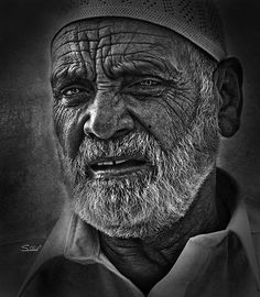Every Face in the following black and white photography list of old people telling some story. If you look at these faces, not a single photo got a smiley