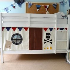Schon Seriously Cool Pirate Ship Bunk Bed Tent For The Lower Bunk.