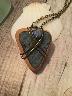 Sea Glass / Sea Pottery Necklace by JNsArtnTreasures on Etsy https://www.etsy.com/listing/587408672/sea-glass-sea-pottery-necklace