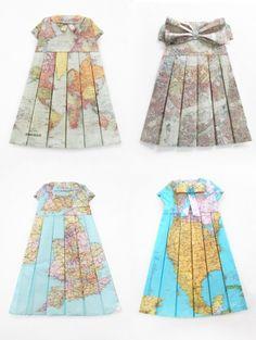 geopgraphic dresses by Elisabeth Lecourt