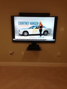 run power and cables through wall for wall mounted tv. Black Bedroom Furniture Sets. Home Design Ideas