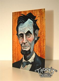 Abraham Lincoln Card by miketanoory on Etsy, $3.50
