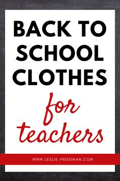 guide to getting dresses for teachers!