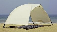The Skincom EASY-for-TWO solar tent provides generous shade for up to 4 people, even during intense midday sun, with protection factor 60 in accordance with UV Standard