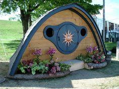 Kids playhouse hobbit hole