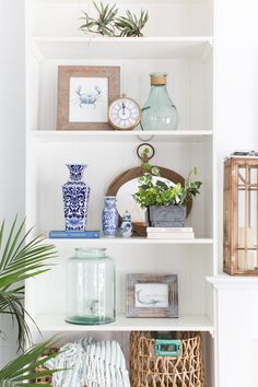 interior accessories on the shelves