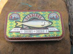 Vintage Chocolate Sardine Tin by 4DogCafe on Etsy, 5.00