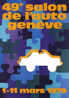 Geneva Car-Show 1979 Travel And Tourism, Lost & Found, Car Show, Bart Simpson, Vintage Posters, Marie, Retro, The Originals, Movie Posters