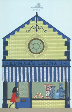 The High Street, by Alice Melvin - China shop