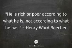 ~Henry Ward Beecher