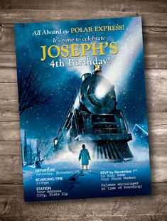 Polar Express Party Invitation *Personalized Digital Printable* by appacadappa on Etsy