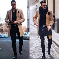 Macho Moda - Blog de Moda Masculina: Por que você PRECISA de mais Roupas em TONS TERROSOS? 5 Provas IMPOSSÍVEIS de ignorar! Brown Leather Jacket Men, Classic Leather Jacket, Vintage Leather Jacket, Lambskin Leather Jacket, Leather Jackets, Mens Parka Coats, Men Coat, Moda Blog, Baby Girl Winter