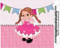 Mini Confeti Festa Junina Rosa