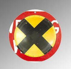 X-ing D.P.W. Platter: Boris Bally: Metal Wall Art   Artful Home