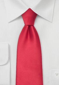 Hellrote Krawatte in Satin-Optik