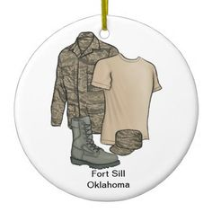 Fort Sill Oklahoma Christmas Ornament