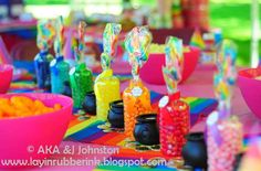 Rainbow Center Pieces