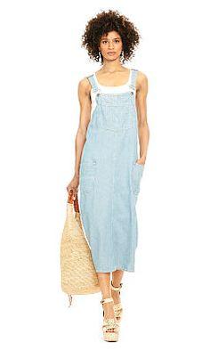 f74fa74203 Cotton-Linen Overall Dress - Polo Ralph Lauren Midi - RalphLauren.com