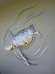 Metal Turtle OMG I want this so bad Metal Animal, Turtle Figurines, Tortoise Turtle, Turtle Love, Sea Turtles, Baby Turtles, Tortoises, Sea Creatures, Metal Art