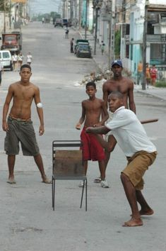 Baseball in the streets... I just LOVE this!!!and how much do people pay for a ballgame???