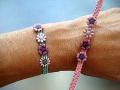 Macrame Girl's Friendship Bracelet with by FiberFlowersAndBeads, $6.00