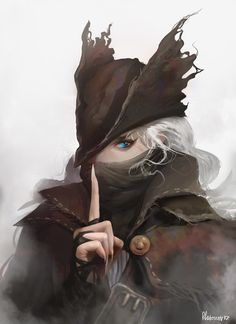 Bloodborne, The Huntress Dark Blood, Old Blood, Character Concept, Character Art, Character Design, Fantasy Characters, Female Characters, Dark Fantasy, Fantasy Art