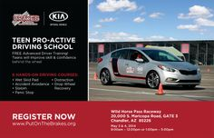 B.R.A.K.E.S. pro active teen driving school will be in Phoenix area on May 3rd and 4th please sign your teen up fast seats are limited to 150 for the entire weekend!! www.putonthebrakes.org/schedule