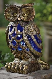 Pretty Solar Powered Garden Owl Bug Zapper. Photons