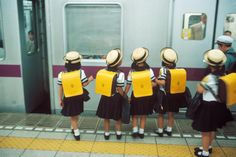 JAPAN. Tokyo. School girls in the subway. 1996. © HG/Magnum Photos