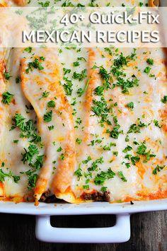 40+ Quick-Fix Mexican Recipes