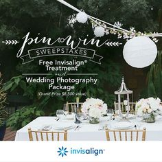 Invisalign Wedding Pin To Win Sweepstakes | Bridal Musings Wedding Blog