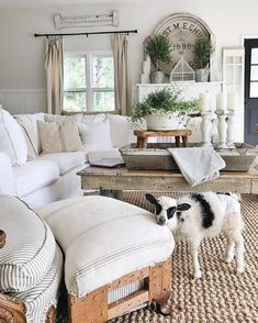 adorable! - O.M.G.!! - I TOTALLY LOVE THIS EXQUISITE ROOM, WHICH HAS BEEN SO WONDERFULLY DECORATED! - THE FURNISHINGS & DECOR ARE SO BEAUTIFUL & JUST PERFECT, (including the baby goat!!) #️⃣