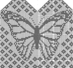 Bilderesultat for owl mitten pattern chart Filet Crochet, Crochet Chart, Crochet Granny, Knitting Charts, Knitting Stitches, Knitting Patterns Free, Crochet Patterns, Knitting Tutorials, Hat Patterns