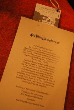 레드윙에서 전세계에 100개만 한정으로 만든 울 담요입니다. 울은 울 회사로 울른밀에서 만든 울로 만들어졌습니다. Red Wing Shoes Blanket wool