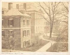 Pennsylvania Hospital History: Historical Image Gallery - Pine Building, c.1861