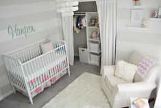 Mint, Pink and Coral Nursery