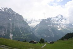 Alpine huts Grindelwald Switzerland