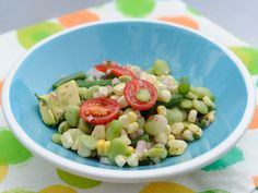 Succotash Salad Recipe : Katie Lee : Food Network(replace lima beans with edamame) Top Salad Recipe, Salad Recipes, Kitchen Recipes, Cooking Recipes, Healthy Recipes, Primal Recipes, Side Dishes Easy, Side Dish Recipes, Salads