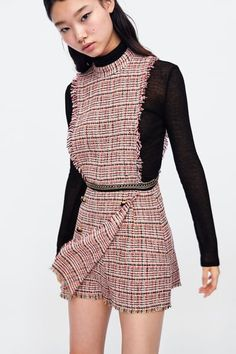 77d7ebd7ba0 Image 2 of TWEED JUMPSUIT WITH CHAIN from Zara Zara Jumpsuit