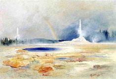 The Castle Geyser, Fire Hole Basin by Thomas Moran