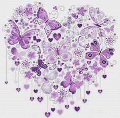 Etamin Şablonları Kalp Desenleri 73