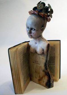 Marie Gibbons - omg I love this!!!!! But where to file it? Art dolls? Book art? I'll just file it under awesomeness.