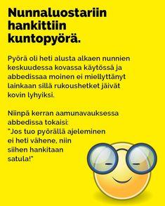 Vitsit: Nunnaluostariin hankittiin kuntopyörä - Kohokohta.com Lol, Humor, Comics, Memes, Funny, Humour, Meme, Funny Photos, Funny Parenting