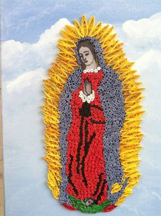 Guadalupe Virgen Quilling on Etsy, $75.00